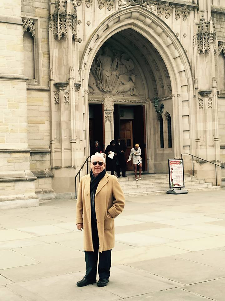 Sam Hamod at Princeton University Chapel, Princeton University